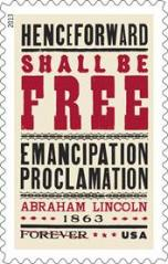 Emancipation Proclamation postage stamp